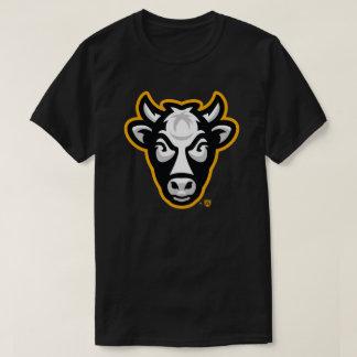 Das T-Stück der Wisconsin-Kuh-Männer (Schwarzes) T-Shirt