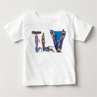 Das T-Stück   TEL AVIV, IL (TLV) des Babys Baby T-shirt