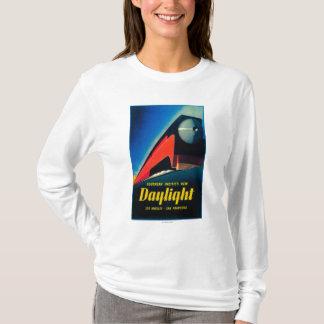Das Tageslicht-Zug-fördernde Plakat T-Shirt