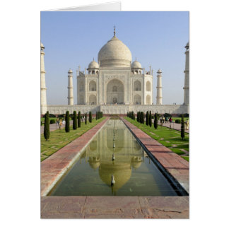 Das Taj Mahal, Agra, Uttar Pradesh, Indien, Karte