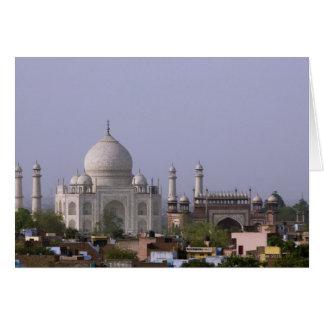 das Taj Mahal beherrscht die Stadt von Agra Karte