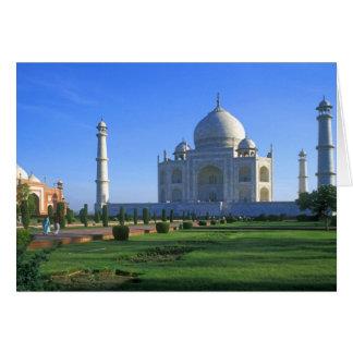 Das Taj Mahal in Agra Indien Karte