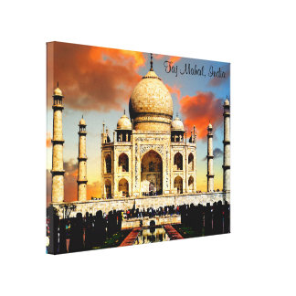 Das Taj Mahal in Indien Leinwanddruck