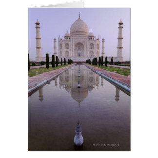 das Taj Mahal reflektierte tadellos sich im Pool Karte