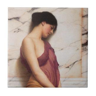 Das tambourine-Mädchen durch John William Godward Fliese