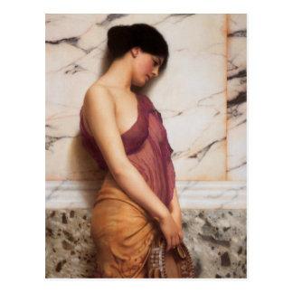 Das tambourine-Mädchen durch John William Godward Postkarten