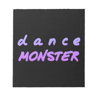 Das Tanz-Monster Notizblock