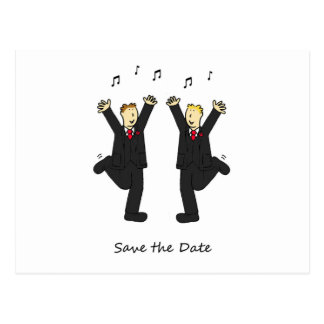 Das Tanzen pflegt Save the Date Karte Postkarten