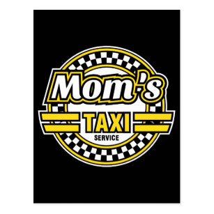 Das Taxi-Service der Mammas Postkarte