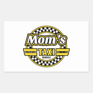 Das Taxi-Service der Mammas Rechteckiger Aufkleber