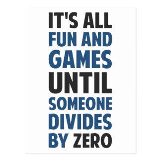 Das Teilen durch null ist nicht ein Spiel Postkarte