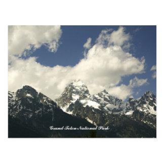 Das Tetons, großartiger Teton Nationalpark Postkarte