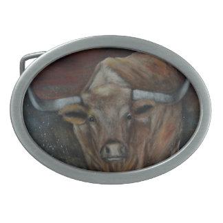 Das Texas Longhorn Stier Ovale Gürtelschnalle