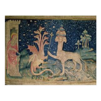 Das Tier des Meeres mit sieben Köpfen Postkarte