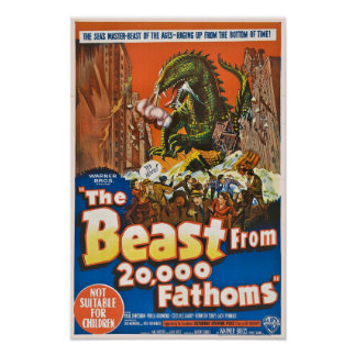 Das Tier von 20 000 Fathoms Plakat-