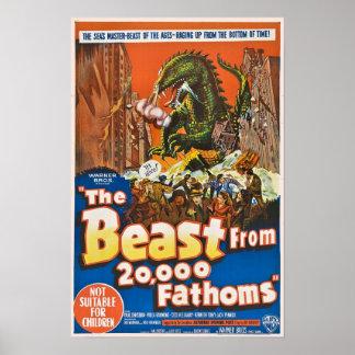 Das Tier von 20.000 Fathoms Plakat-