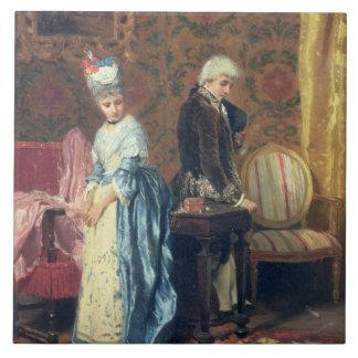 Das tiff der Liebhaber, 1872 (Öl auf Platte) Fliese
