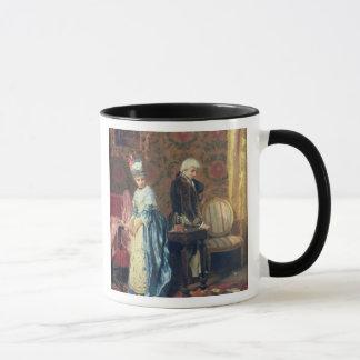 Das tiff der Liebhaber, 1872 (Öl auf Platte) Tasse