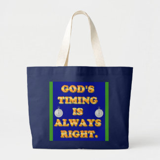 Das TIMING des Gottes ist immer recht Jumbo Stoffbeutel