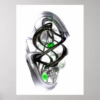 Das Tintenfass-abstrakte Plakat