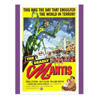 Das TÖDLICHE MANTIS Plakat Postkarte