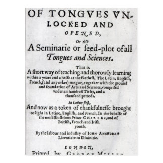 Das Tor der Zungen Unlocked', 1631 Postkarte