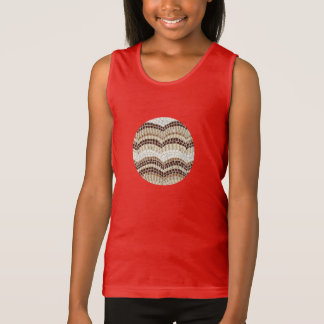 Das Trägershirt der beige Mosaik-Mädchen Tank Top
