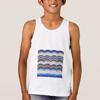 Das Trägershirt der blaue Mosaik-Kinder Tank Top