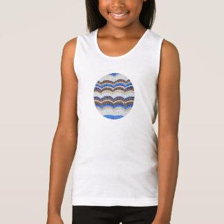Das Trägershirt der blauen Mosaik-Mädchen Tank Top