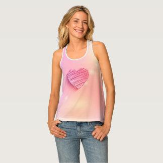 Das Trägershirt der rosa Herz-Hintergrund-Frauen Tanktop
