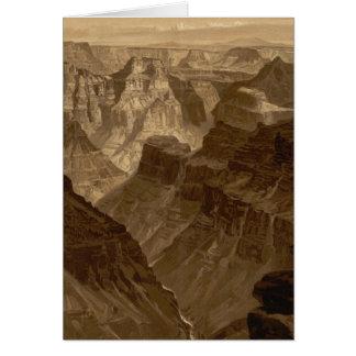 Das Transept, Kaibab Abteilung, Grand Canyon Karte