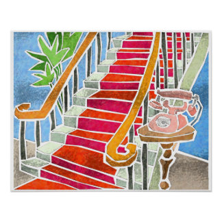 Das Treppenhaus Poster
