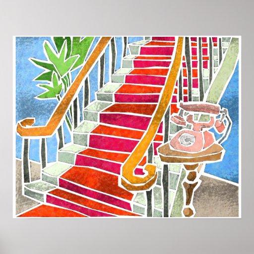 Das Treppenhaus Plakatdrucke