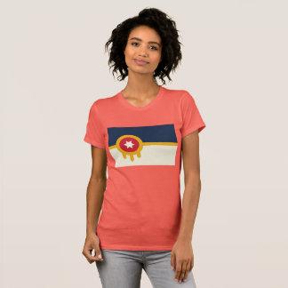 Das Tulsa-Flaggen-T-Stück der Frauen T-Shirt