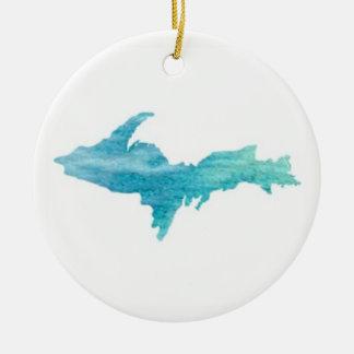 Das U.P., Michigans oberes Keramik Ornament
