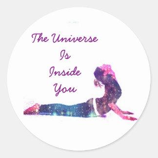 Das Universum ist nach innen Sie Aufkleber