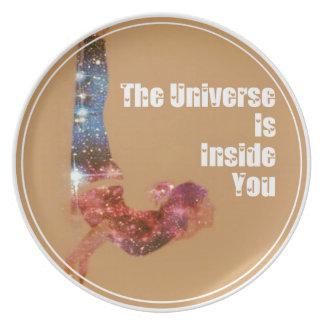 Das Universum ist nach innen Sie Reihe Teller