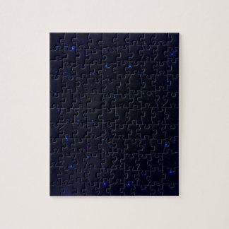 Das Universum mit blauen Sternen Puzzle