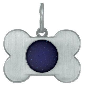 Das Universum mit blauen Sternen Tiermarke