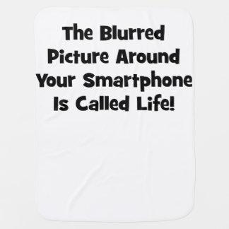 Das unscharfe Bild um Ihr Smartphone… Babydecke