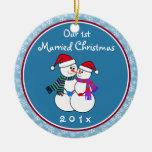 Das unser 1. Weihnachten Personalisiert-Schnee Weihnachtsornament