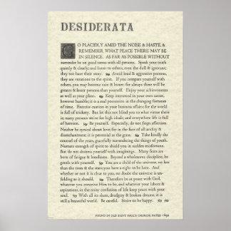 Das ursprüngliche Desiderata-Plakat durch Poster