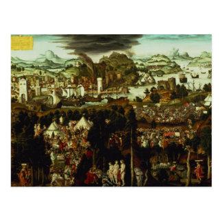 Das Urteil von Paris und von Trojan Krieg, 1540 Postkarte