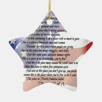 Das USA-Flaggen-Poesie-Kunst-Plakat Keramik Ornament