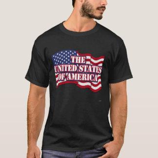 Das USA mit USA-Flagge T-Shirt