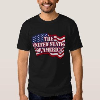 Das USA mit USA-Flagge Tshirts