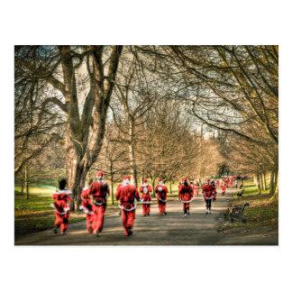 Das Vater-Weihnachten 10km laufen in Greenwich Postkarten
