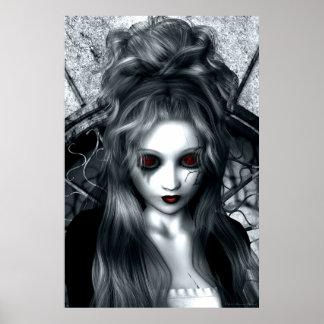 Das vergessene Sturm-gotische Grafik-Plakat Poster