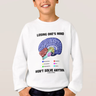 Das Verlieren irgendjemandes Verstandes löst Sweatshirt