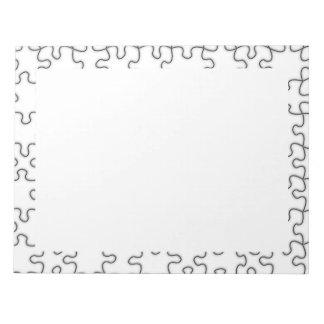Das vermisste Puzzlespiel-Stück-Muster Notizblock